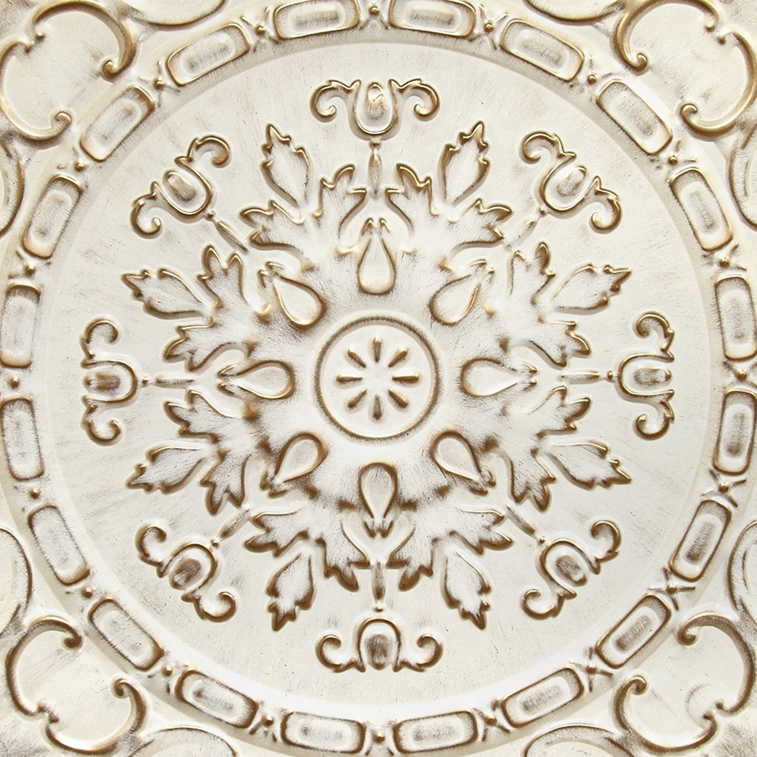 Shop Stratton Home Decor White Metal European Medallion Wall Decor With Favorite European Medallion Wall Decor (View 3 of 20)