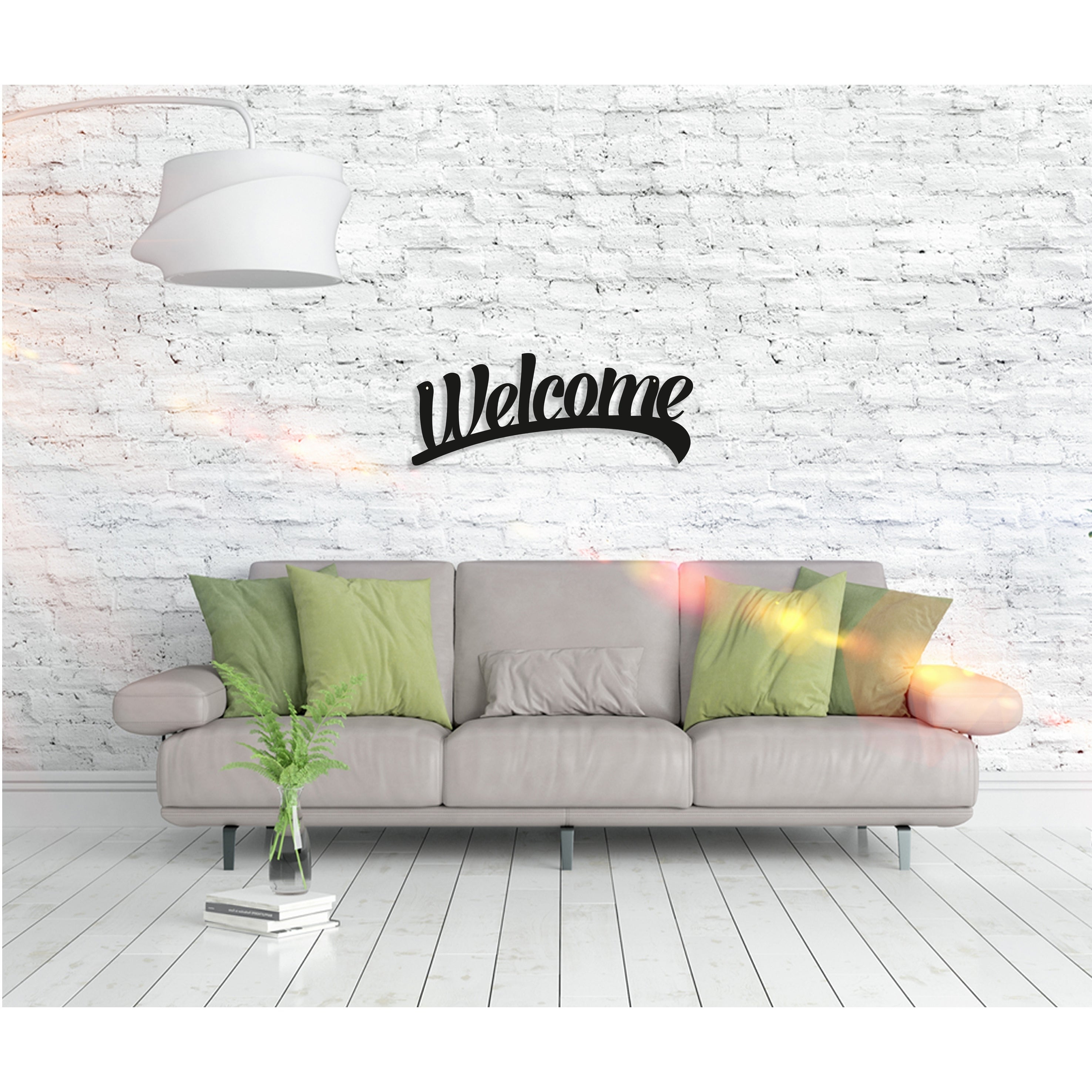 "Shop Welcome – Metal Word Wall Art Home Décor Decorative Hanging For Well Liked In A Word ""welcome"" Wall Decor (Gallery 18 of 20)"