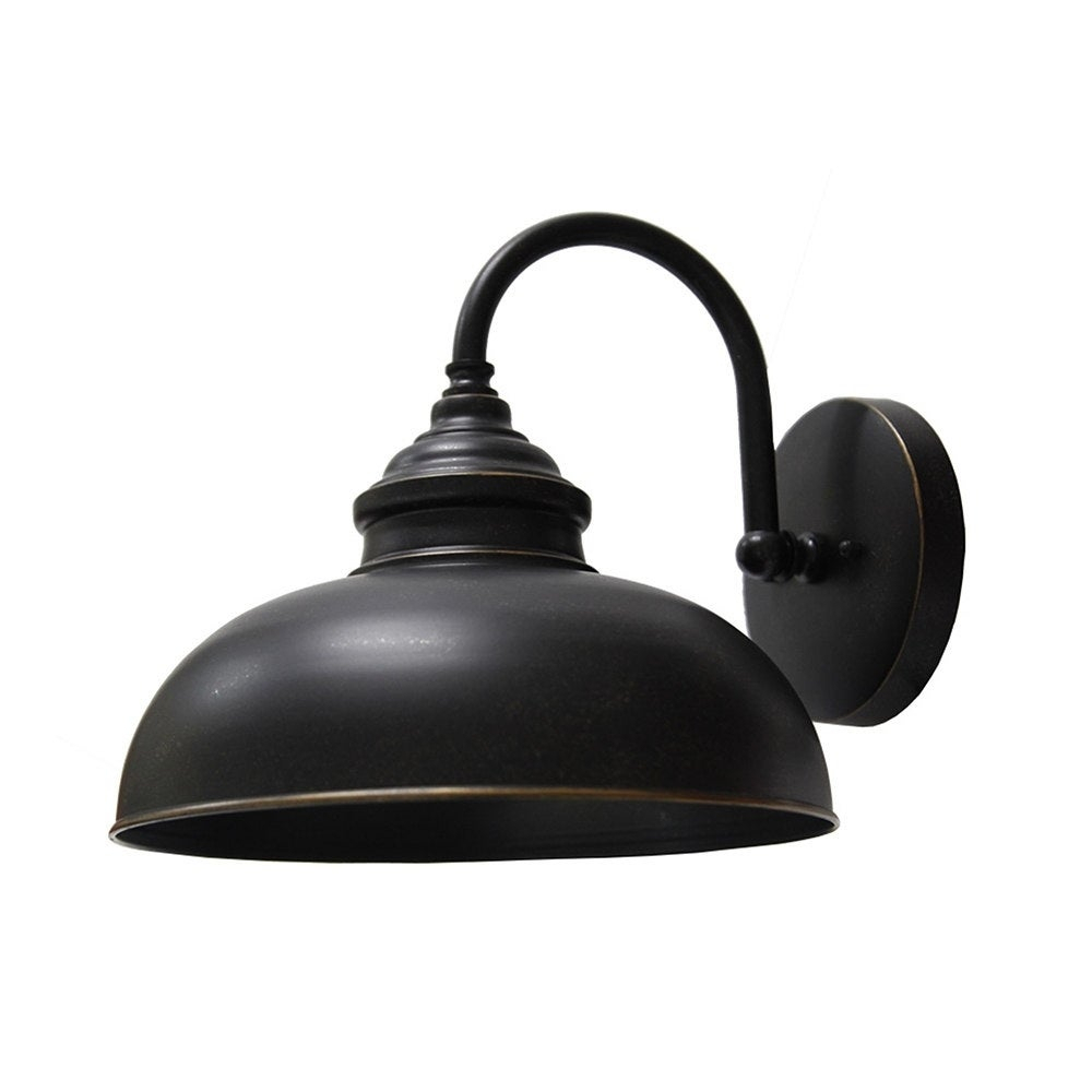 Shop Y Decor 1 Light Outdoor Wall Mounted Light In Oil Rubbed Bronze For Widely Used Oil Rubbed Metal Wall Decor (Gallery 16 of 20)