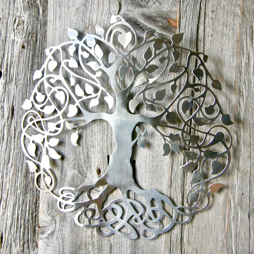 Silver Tree Of Life Wall Artlondon Garden Trading Within 2019 Tree Of Life Wall Decor (Gallery 8 of 20)