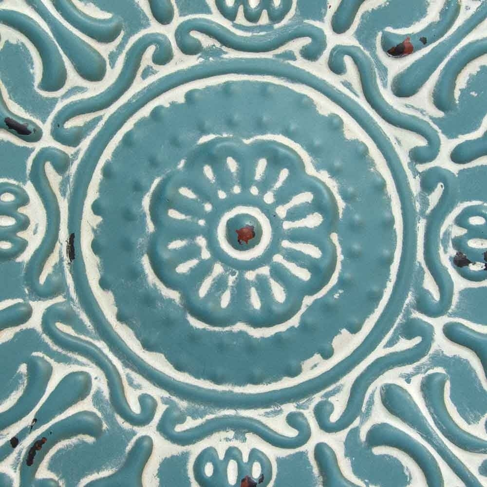 Small Medallion Wall Decor Throughout Favorite Shop Stratton Home Decor Small Blue Medallion Wall Decor – Free (View 15 of 20)