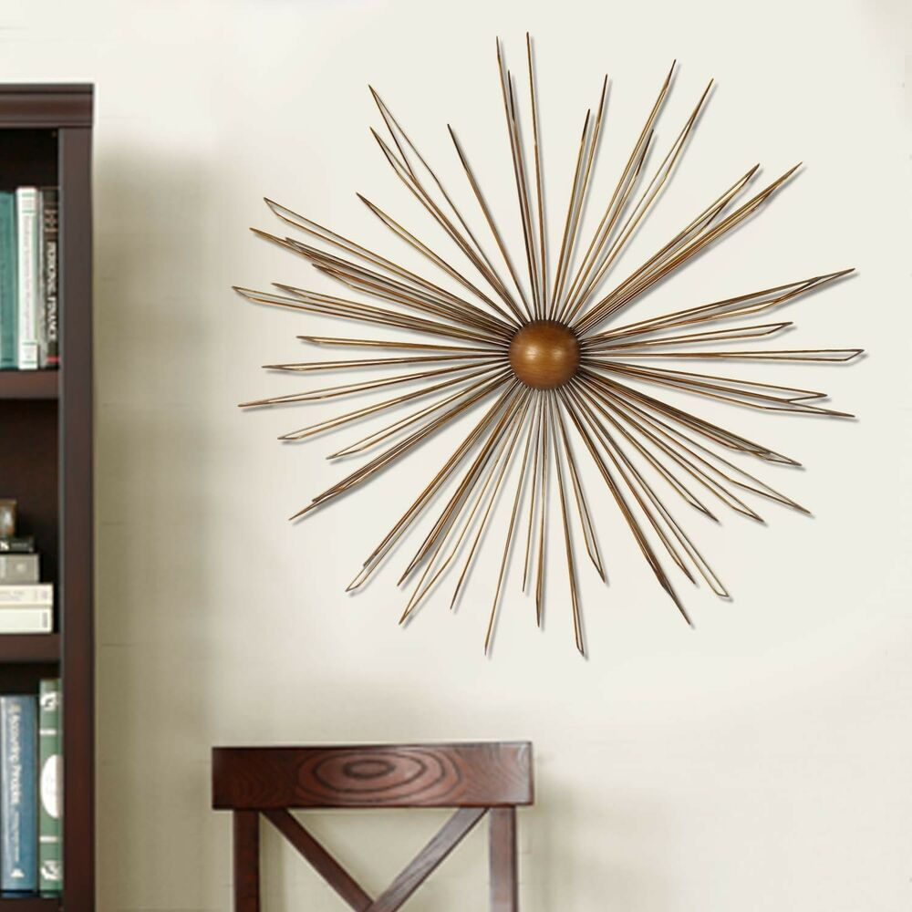 Starburst Wall Decor With Trendy Starburst Wall Decor Metal Art Sculpture Iron Hanging Modern (View 14 of 20)