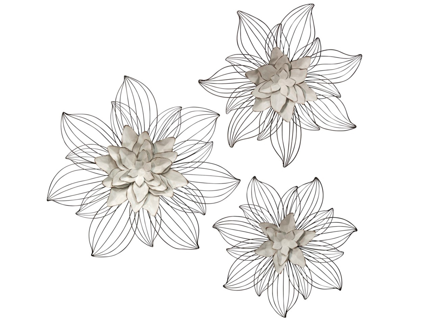 Steinhafels Throughout Metal Flower Wall Decor (Set Of 3) (Gallery 5 of 20)