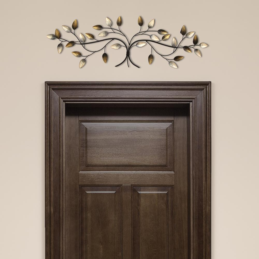 Stratton Home Decor Over The Door Blowing Leaves Wall Decor S01356 Pertaining To Most Up To Date Blowing Leaves Wall Decor (Gallery 12 of 20)