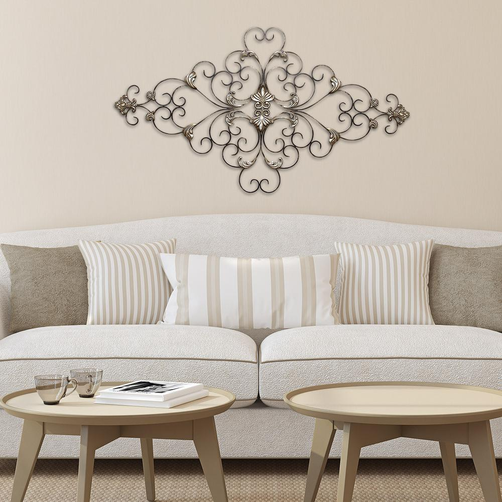 Stratton Home Decor Stratton Home Decor Ornate Scroll Wall Decor Pertaining To Newest Ornate Scroll Wall Decor (Gallery 1 of 20)