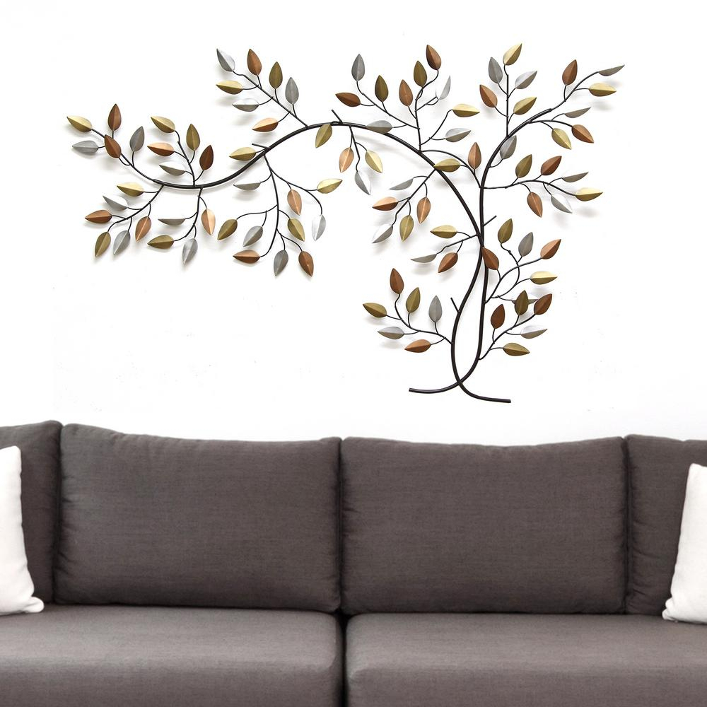 Stratton Home Decor Tree Branch Wall Decor Shd0012 – The Home Depot With Preferred Flowing Leaves Wall Decor (View 6 of 20)