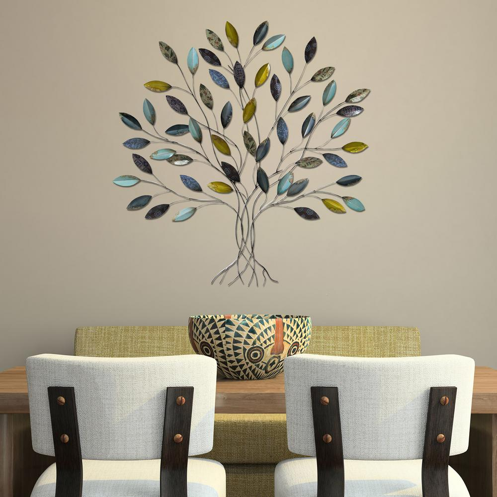 Stratton Home Decor Tree Wall Decor Shd0128 – The Home Depot Throughout Well Liked Windswept Tree Wall Decor (View 20 of 20)