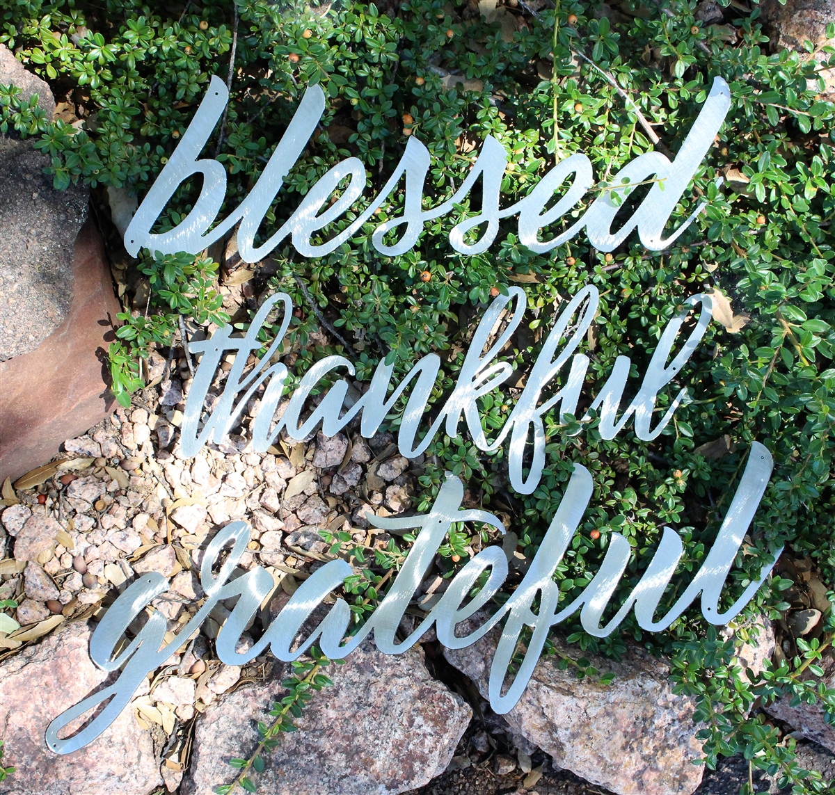 Thankful Grateful Blessed Metal Wall Art Decor Regarding Most Recently Released Blessed Steel Wall Decor (View 10 of 20)