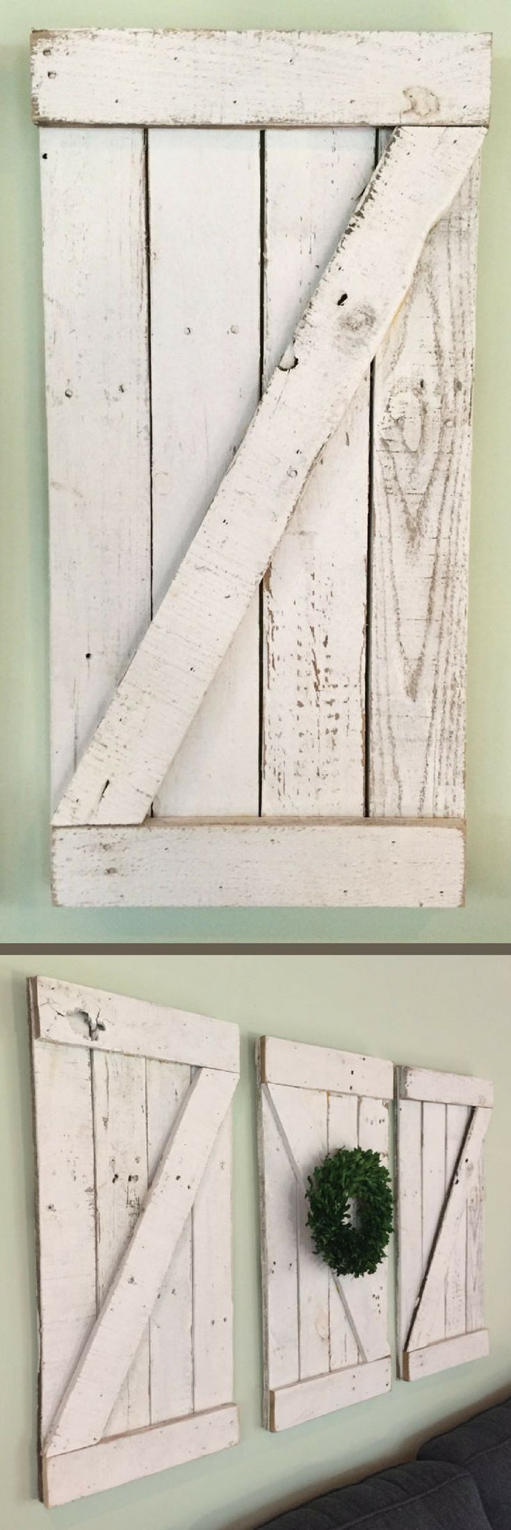These Are Fantastic! Rustic Barn Door Wood Wall Hanging, Wooden With Latest Shutter Window Hanging Wall Decor (View 17 of 20)