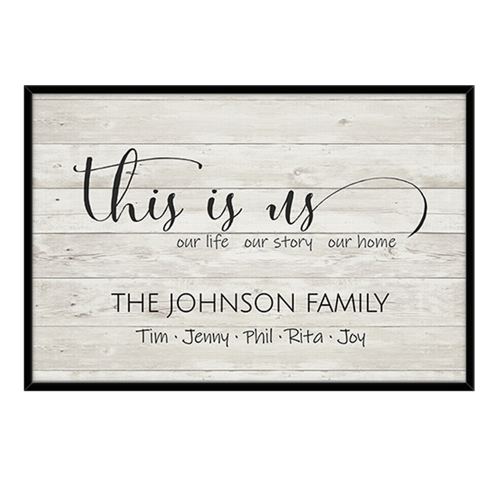 This Is Us Sign Entryway Wall Art: Our Life, Our Story, Our Home For Well Known This Is Us Wall Decor (View 12 of 20)