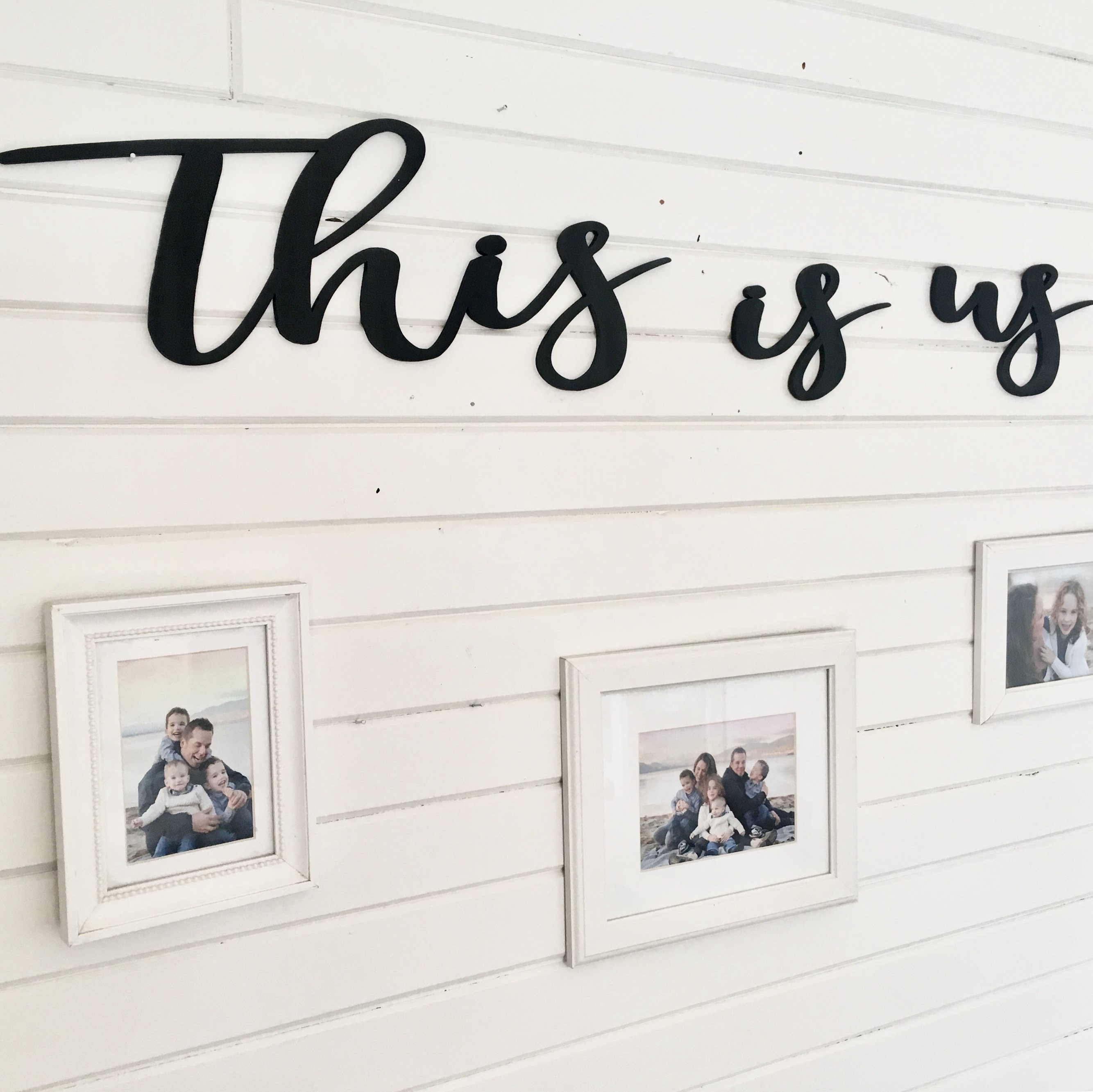This Is Us Wall Decor Cut Out Words 3D Wall Art Script (Gallery 3 of 20)