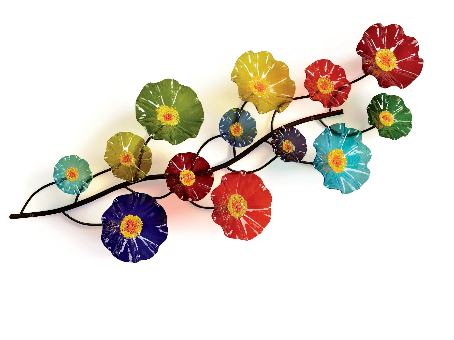 Three Flowers On Vine Wall Decor Pertaining To Well Liked Prism Wall Vinescott Johnson And Shawn Johnson (art Glass Wall (View 4 of 20)