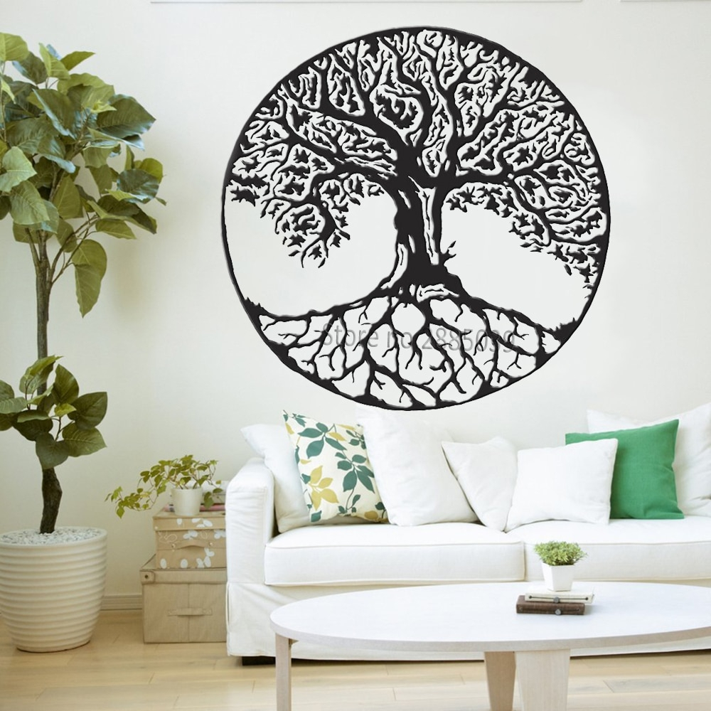 Tree Of Life Wall Decals Vinyl Large Tree Wall Stickers Trees Wall Intended For Current Tree Wall Decor (Gallery 4 of 20)