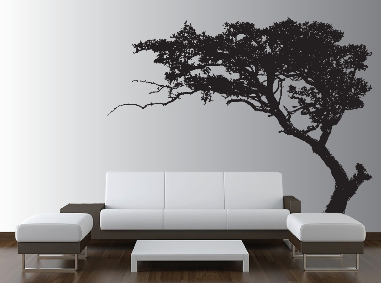 Tree Wall Decor Throughout Well Known Large Wall Tree Decal Forest Decor Vinyl Sticker Highly Detailed (Gallery 6 of 20)