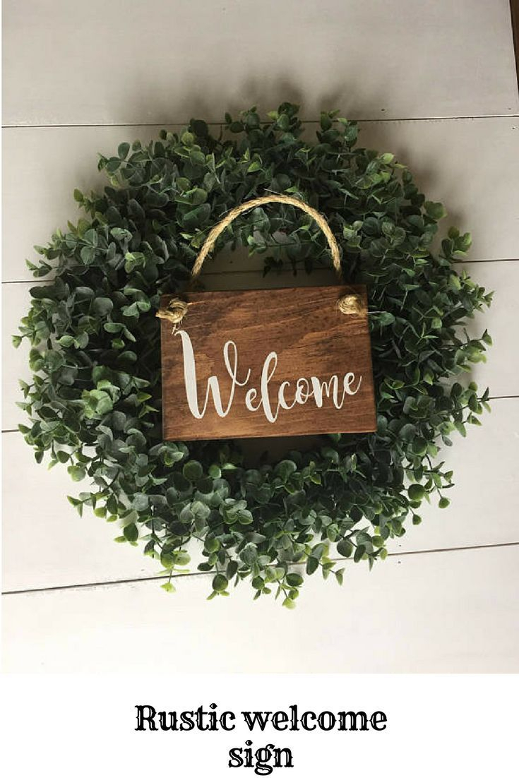 Tree Welcome Sign Wall Decor In Most Up To Date Rustic Welcome Sign Rustic Front Door Sign Welcome Decor (View 11 of 20)