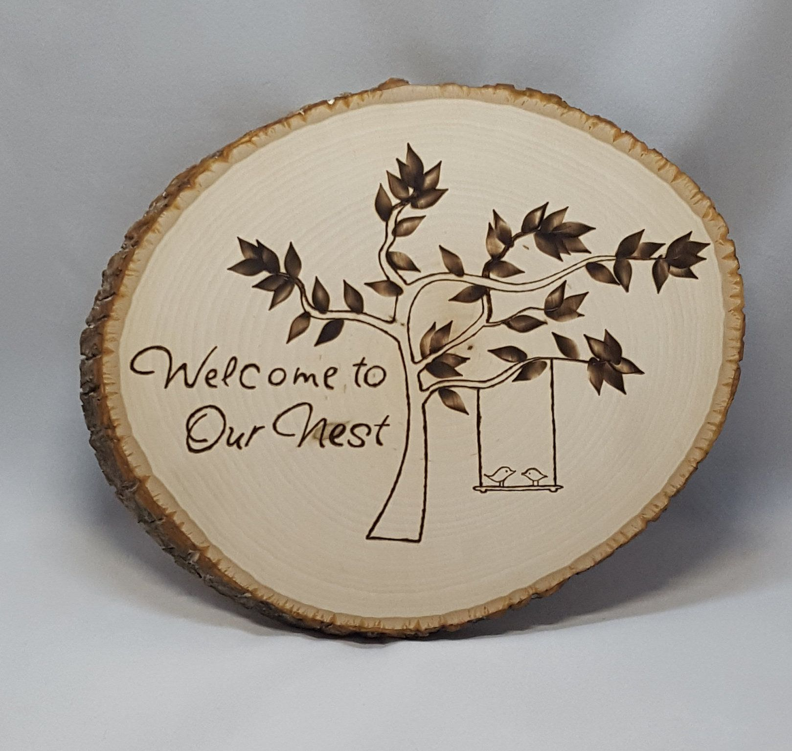 Tree Welcome Sign Wall Decor Intended For Fashionable Welcome To Our Nest, Welcome Sign, Entrance Sign, Welcome, Tree (View 3 of 20)