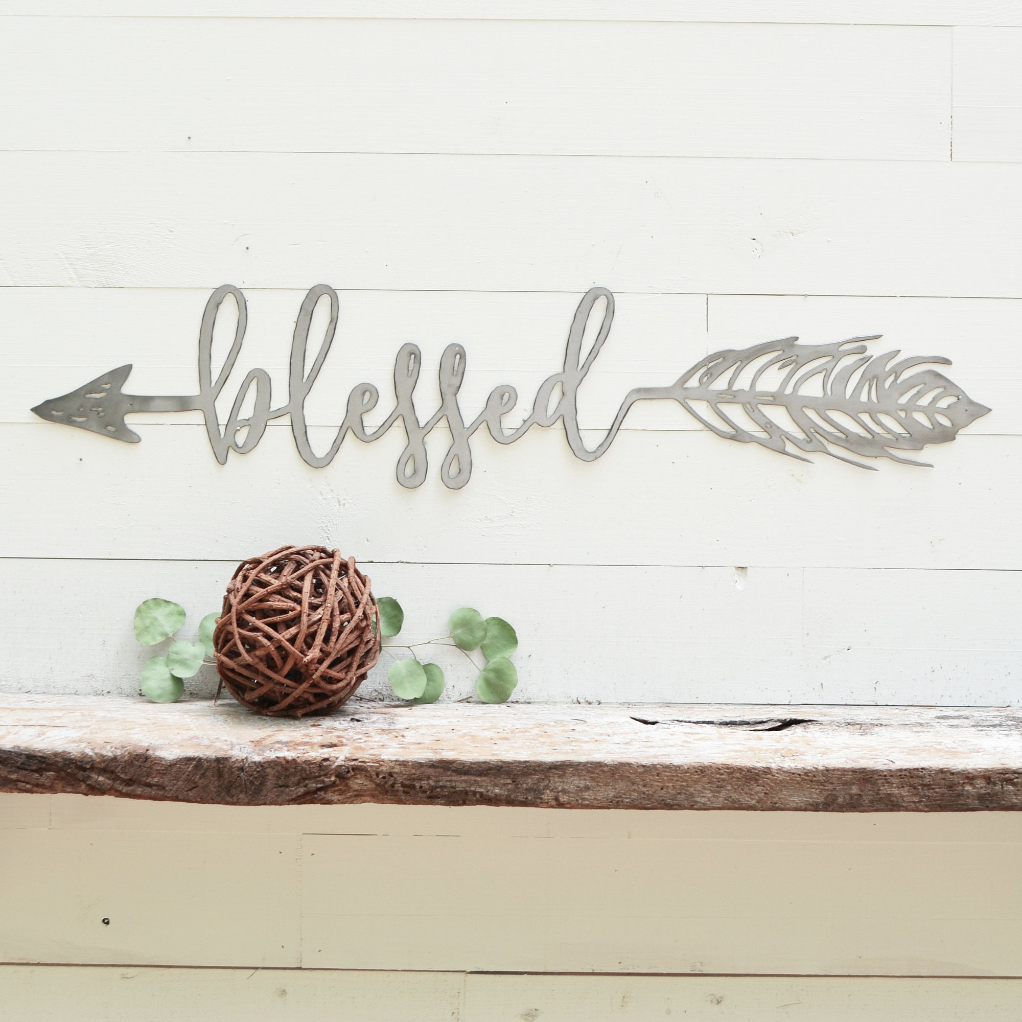 Trendy Blessed Arrow Metal Sign Metal Wall Art Blessed Sign (View 6 of 20)