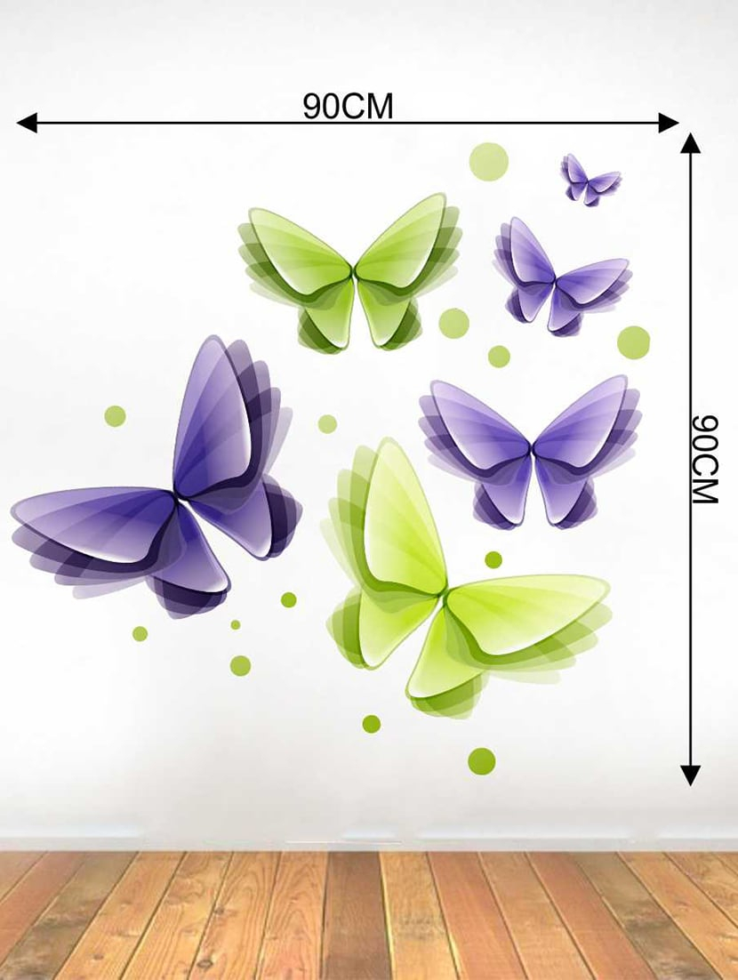 Trendy Buy Rawpockets Wall Decals ' 3d Butterflies Wall Decal Sticker In 3 Piece Capri Butterfly Wall Decor Sets (View 10 of 20)