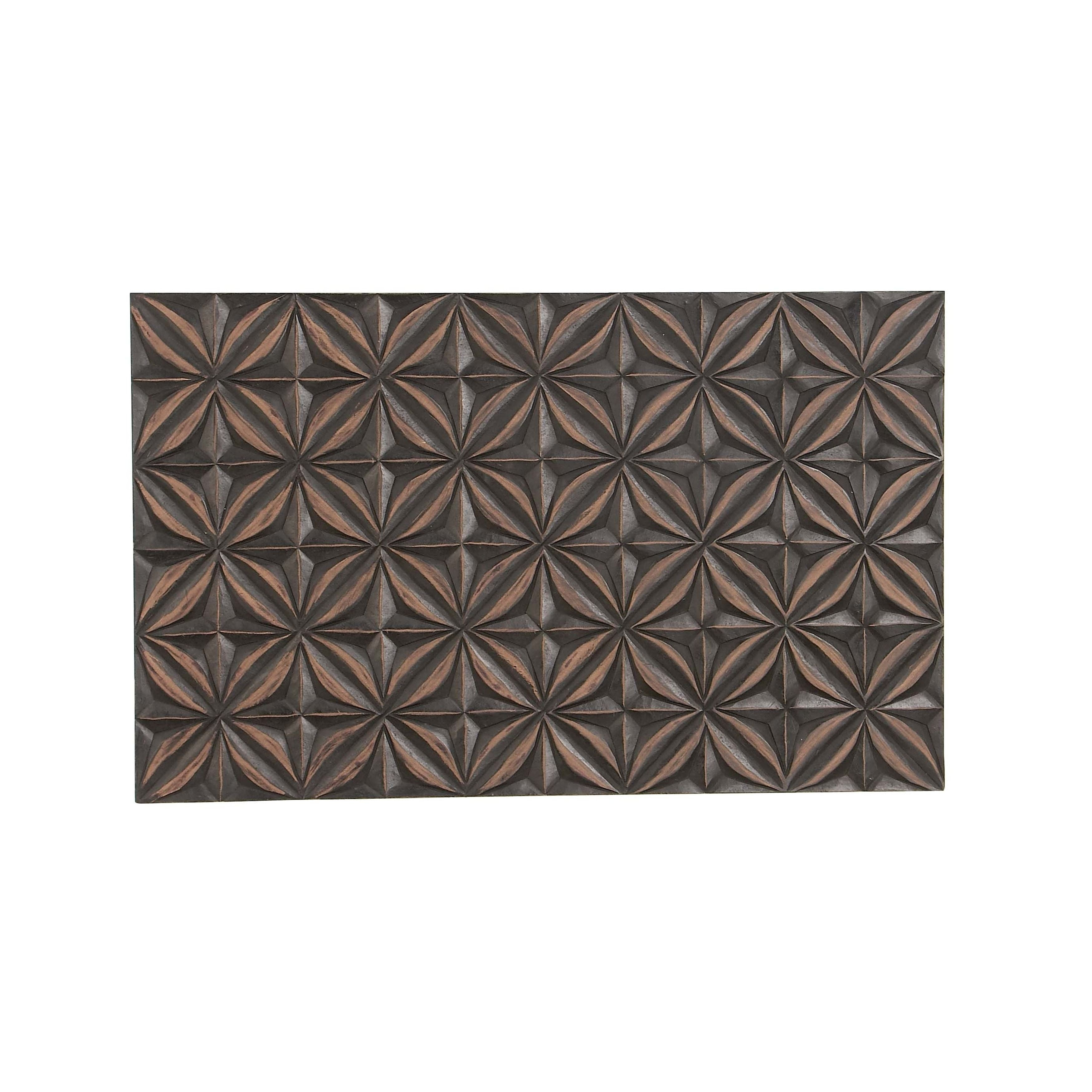 Trendy Floral Patterned Over The Door Wall Decor Throughout Shop Modern Pine Wood Rectangular Floral Lattice Patterned Wall (View 4 of 20)