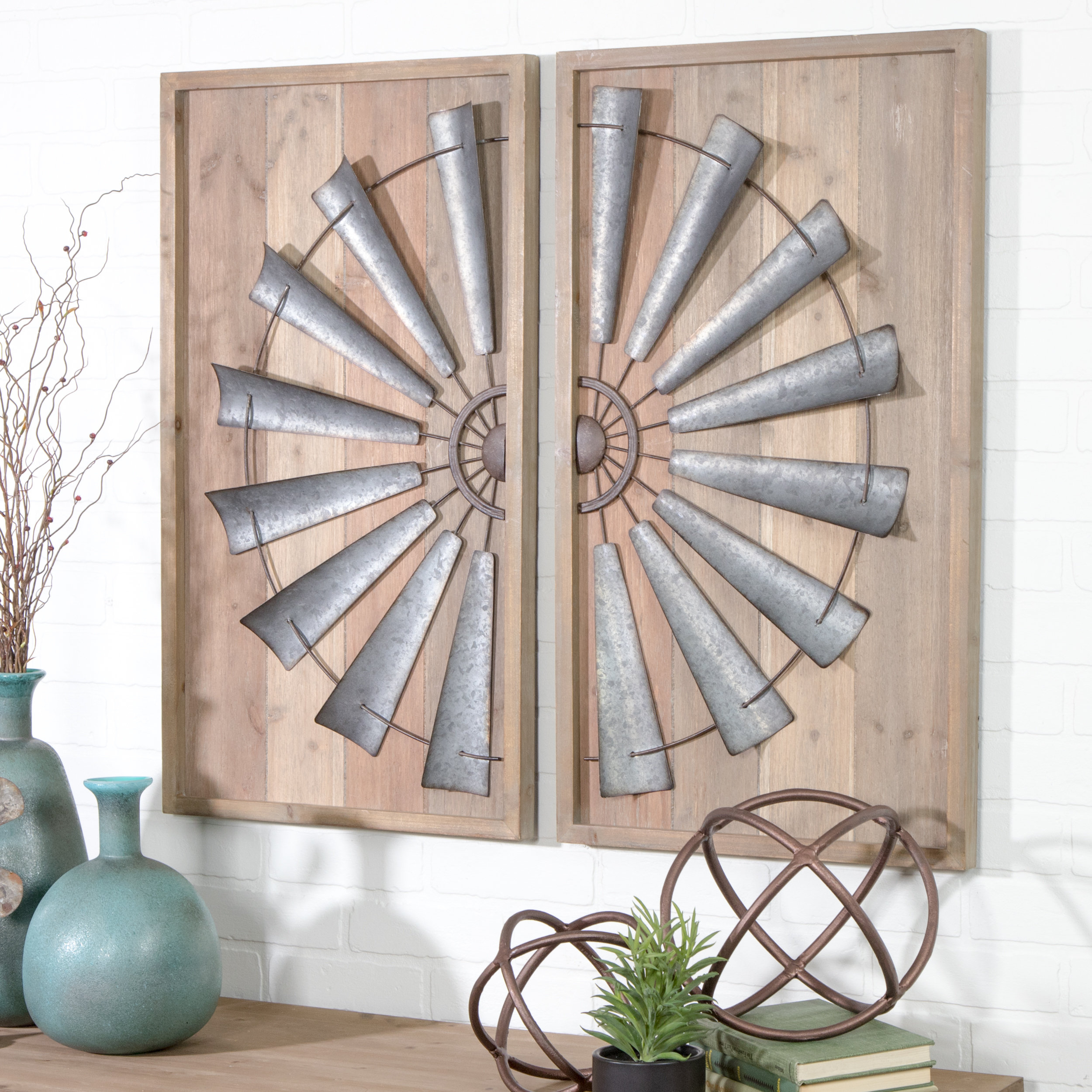 Trendy Gracie Oaks 2 Piece Windmill Wall Décor Set & Reviews (View 4 of 20)