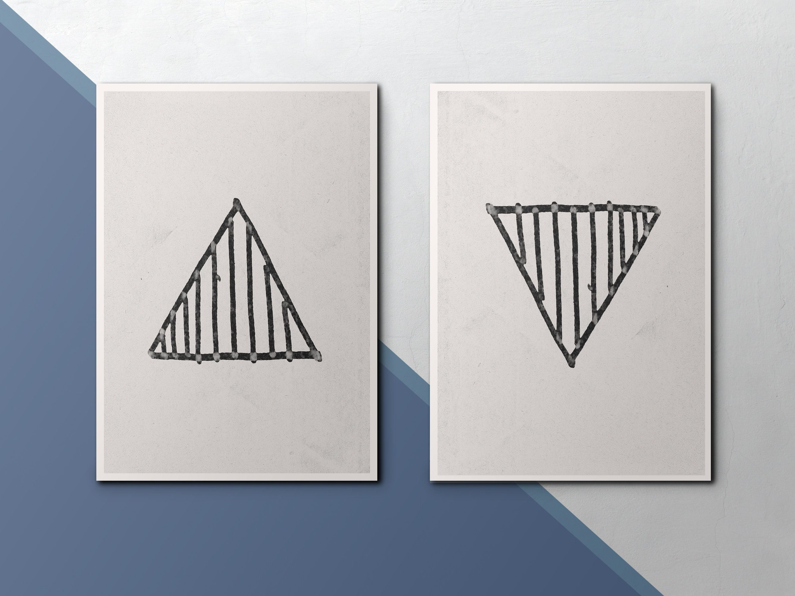 Trendy Modern Art Print Geometric Wall Art Black And White Triangle Throughout Contemporary Geometric Wall Decor (Gallery 19 of 20)