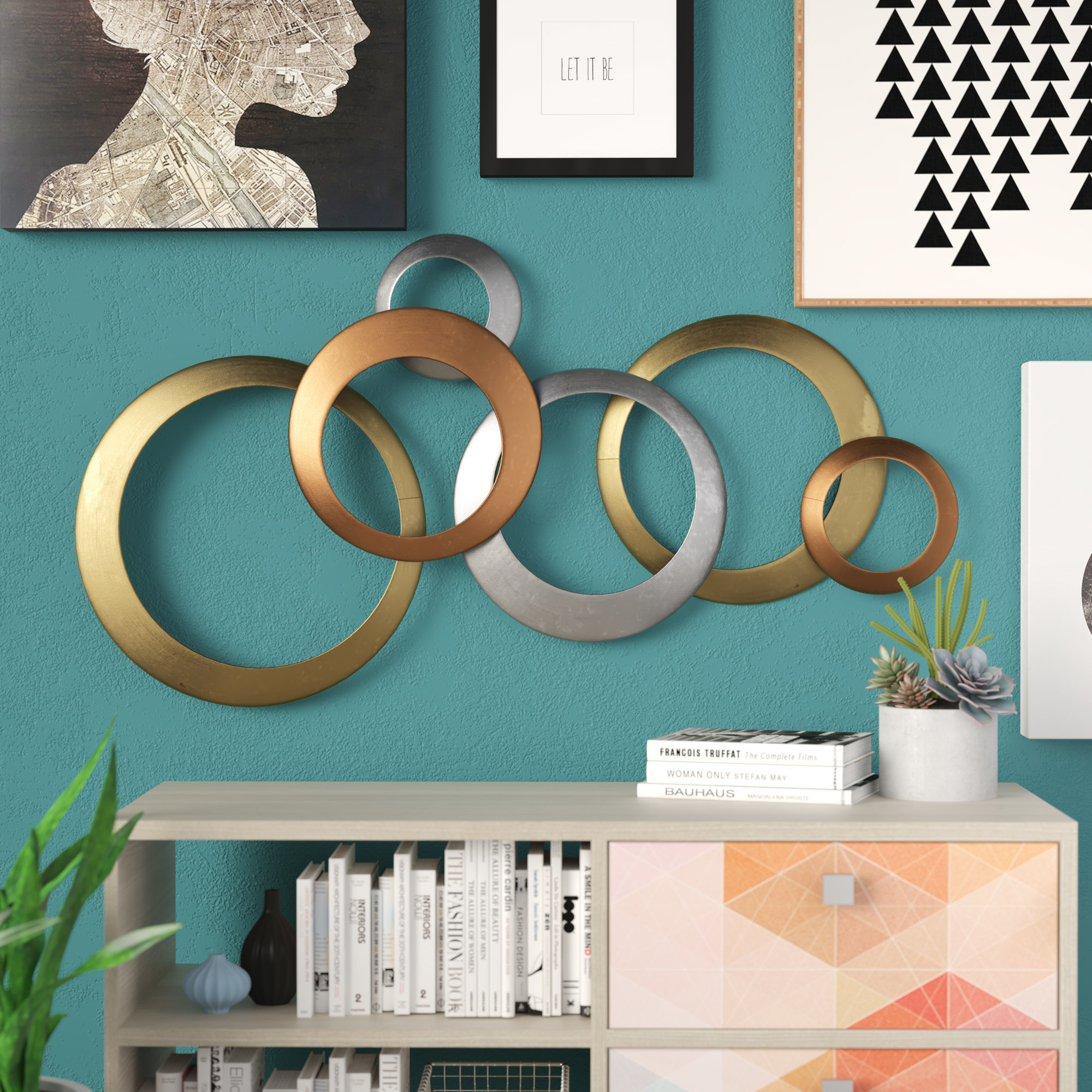 Trendy Rings Wall Decor With Orren Ellis Multi Rings Wall Décor & Reviews (View 9 of 20)