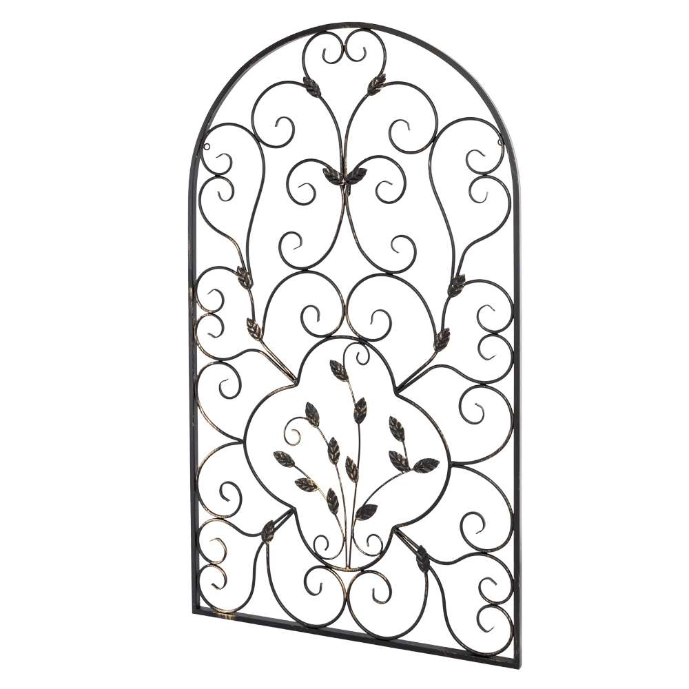 Trendy Set 2 Scroll Wall Decor Wrought Iron Metal Grille Panel Tuscan Art Intended For Scroll Panel Wall Decor (View 17 of 20)