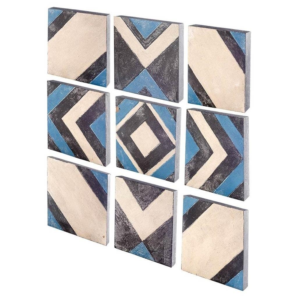 Trendy Shop Mercana Lightfoot (Set Of 9) Wooden Wall Decor – Free Shipping Throughout Mariposa 9 Piece Wall Decor (Gallery 16 of 20)