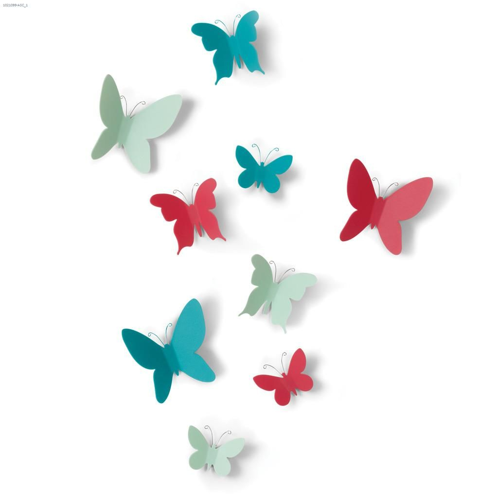 Umbra Shades – Assorted 9 Piece Mariposa Wall Decor (Gallery 4 of 20)
