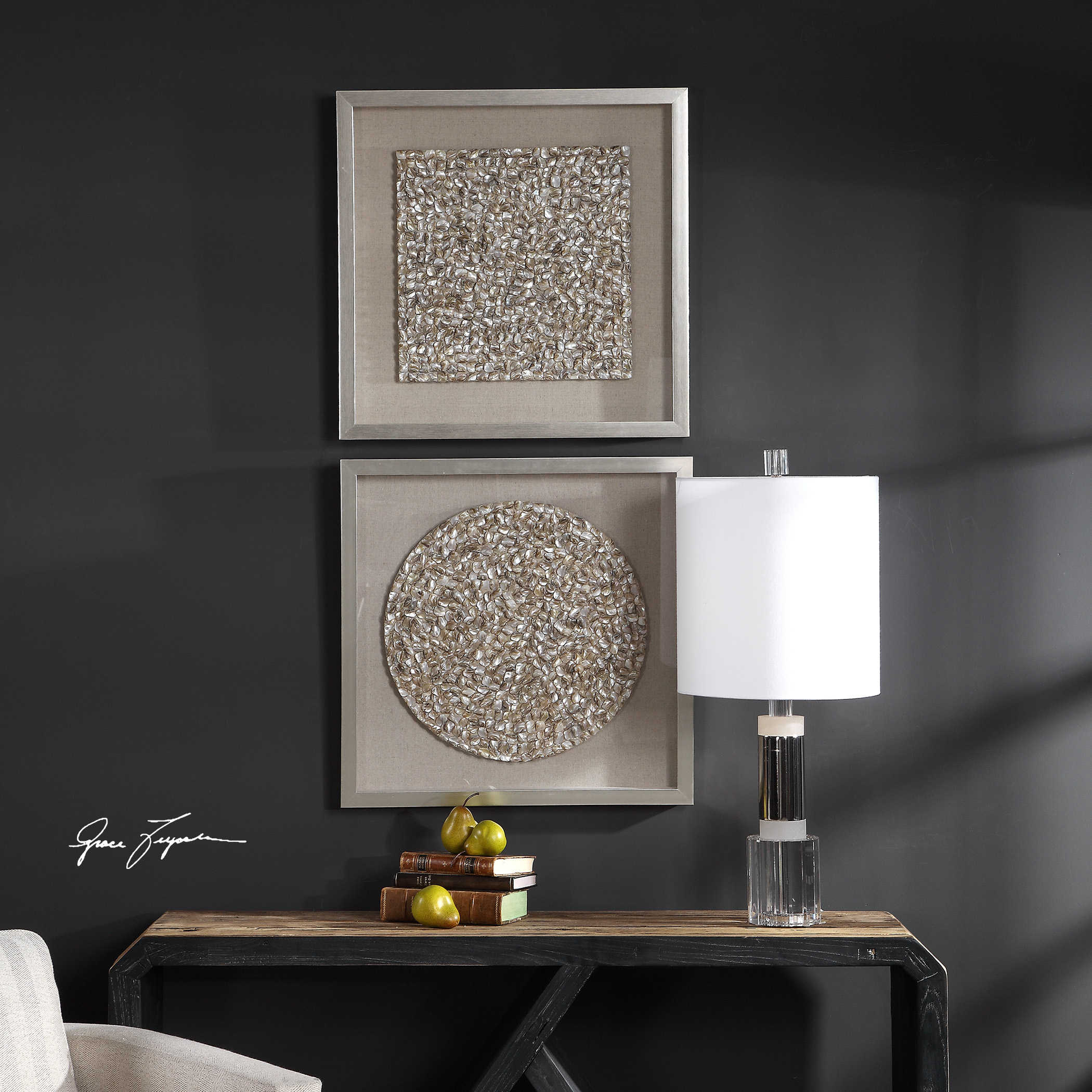 Uttermost Accent Furniture, Mirrors, Wall Decor, Clocks, Lamps, Art In Popular Brushed Pearl Over The Door Wall Decor (Gallery 16 of 20)