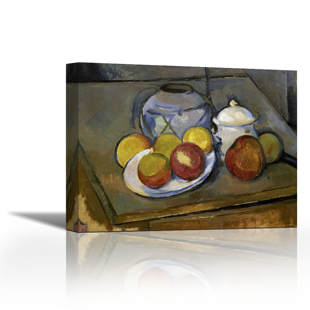 Vase And Bowl Wall Decor Intended For Well Liked Flawed Vase, Sugar Bowl And Apples – Contemporary Fine Art Giclee On (View 13 of 20)