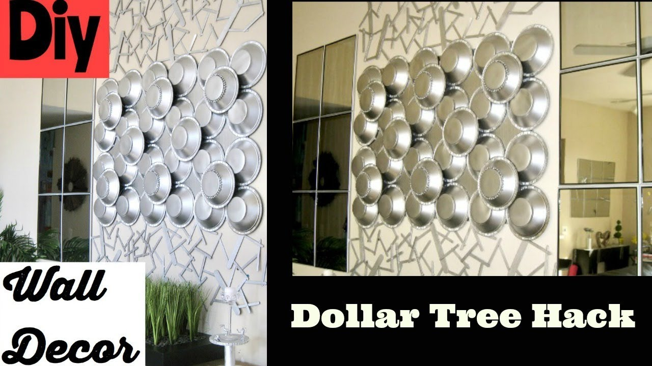 Vase And Bowl Wall Decor Within 2019 Diy Wall Decor Using Dollar Tree Items – Youtube (Gallery 16 of 20)