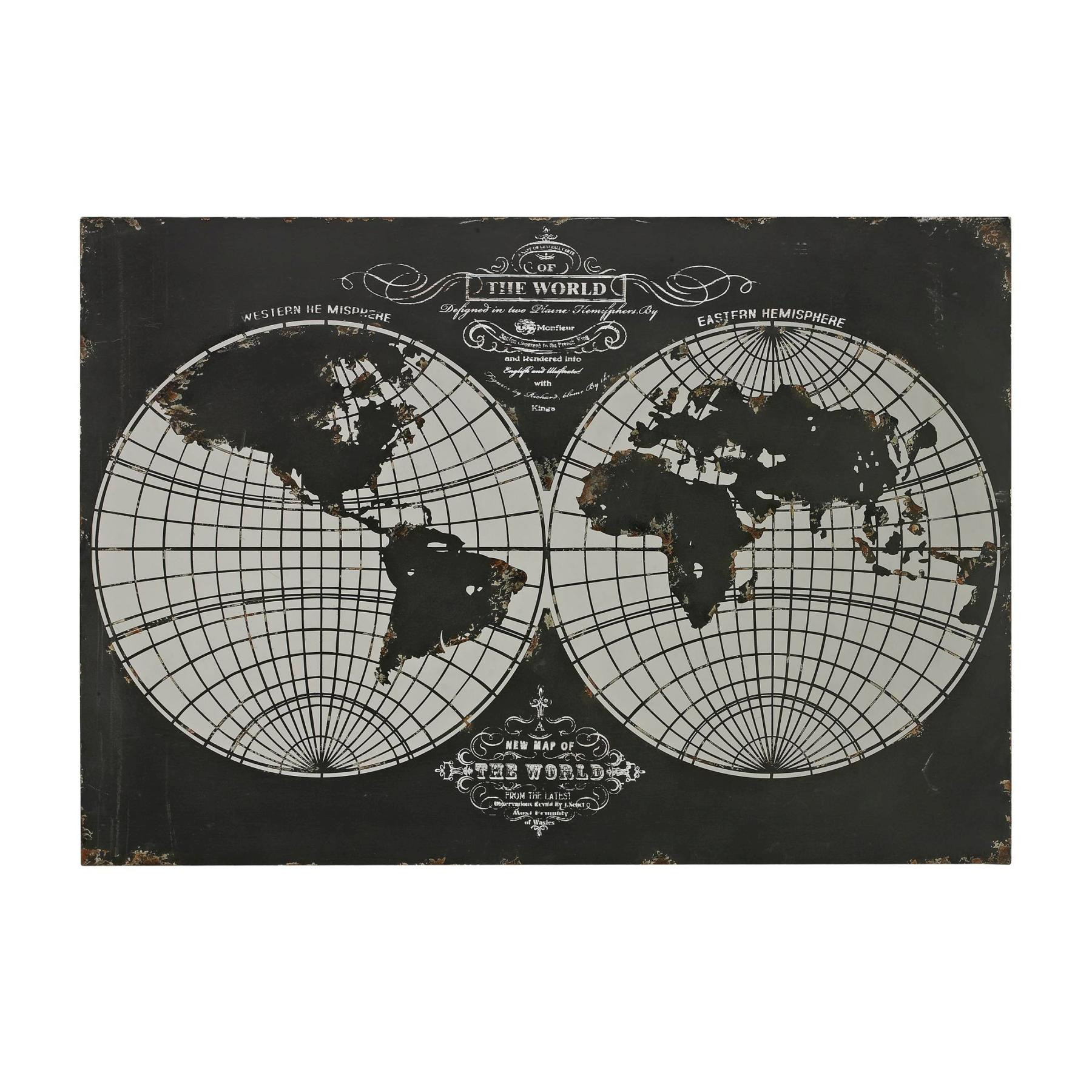 Wall Art – World Map Laser Cut Map Of The Globe – Metal Regarding Recent Aurora Sun Wall Decor (View 14 of 20)