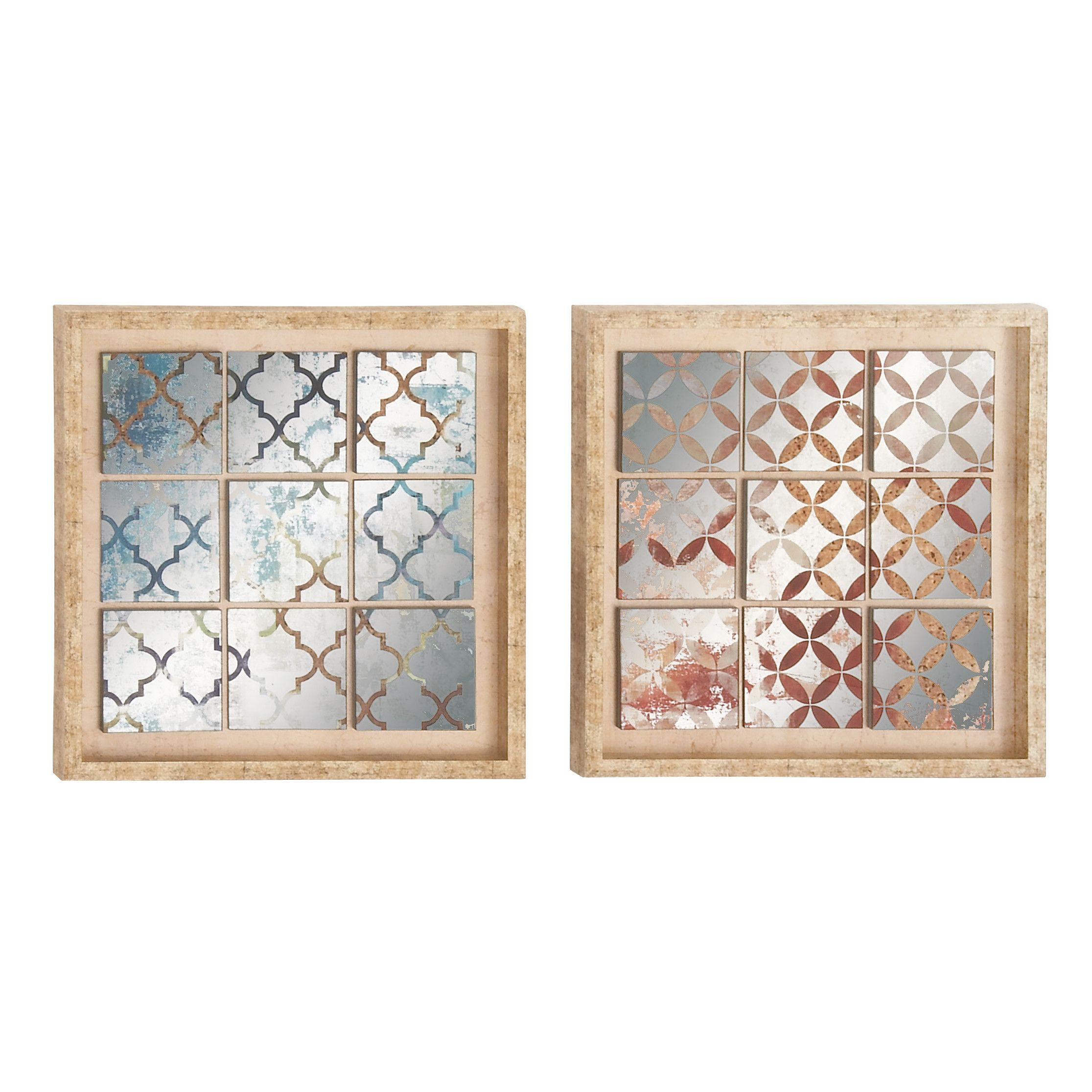 Wall Decor By Cole & Grey For 2020 Cole & Grey 2 Piece Polystone Mirror Framed Wall Décor Set (View 11 of 20)