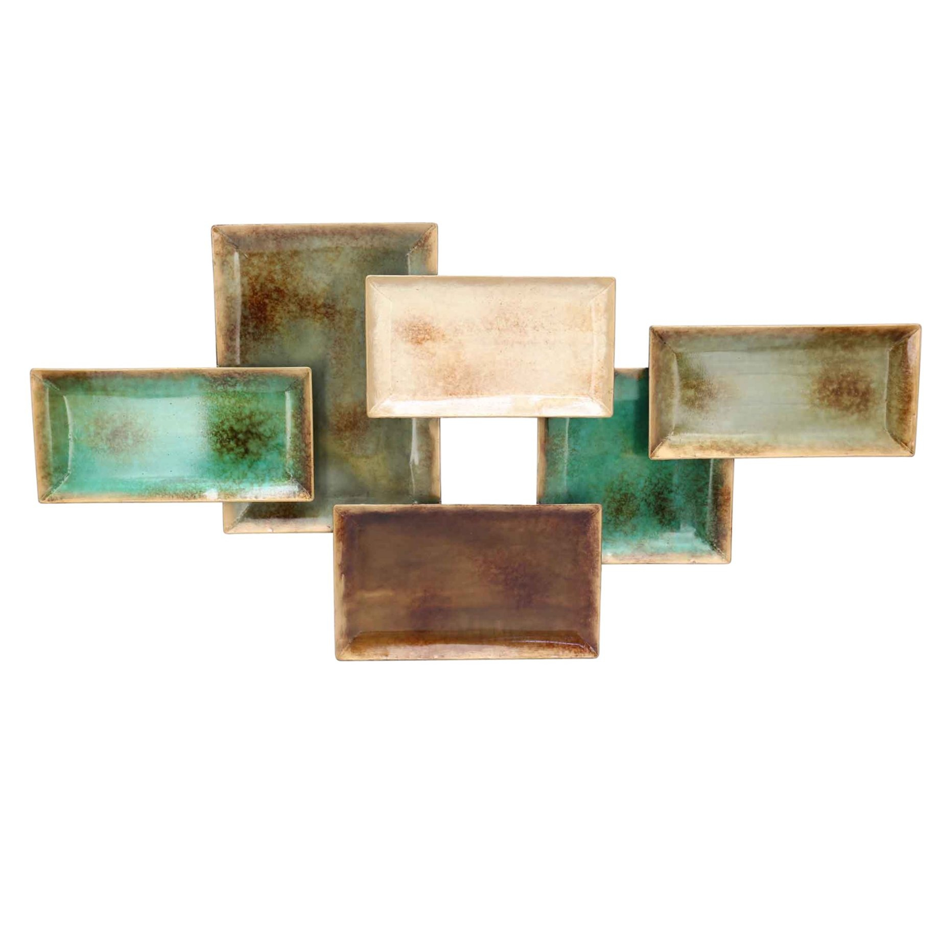 Wall Decor By World Menagerie In Most Popular World Menagerie Metal Six Rectangular Trays Wall Décor (View 12 of 20)