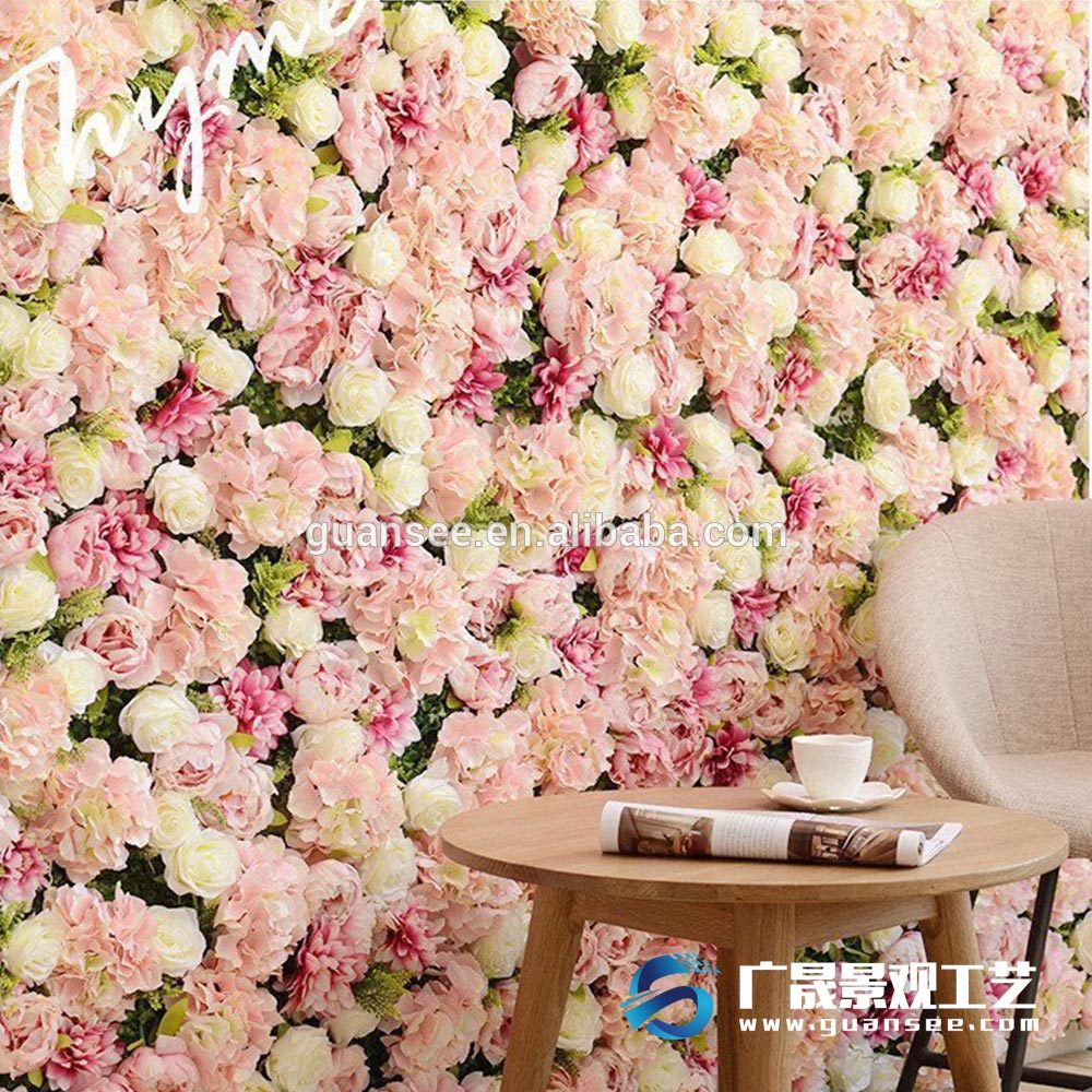 Wall Decor Wholesale Synthetic Artificial Flowers Wall Fake Plant Intended For Widely Used Flower Wall Decor (Gallery 2 of 20)