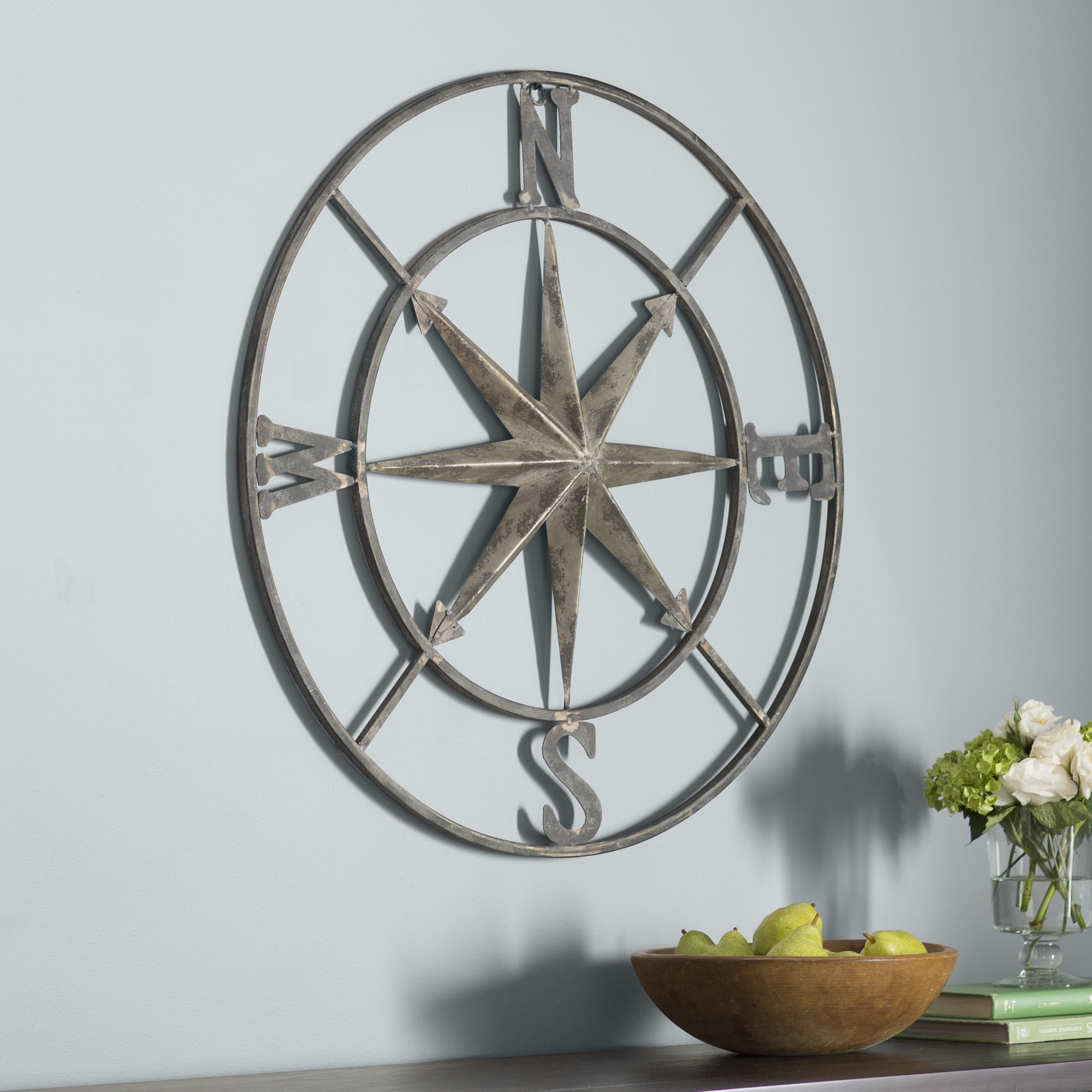 Wayfair Regarding Round Compass Wall Decor (View 2 of 20)