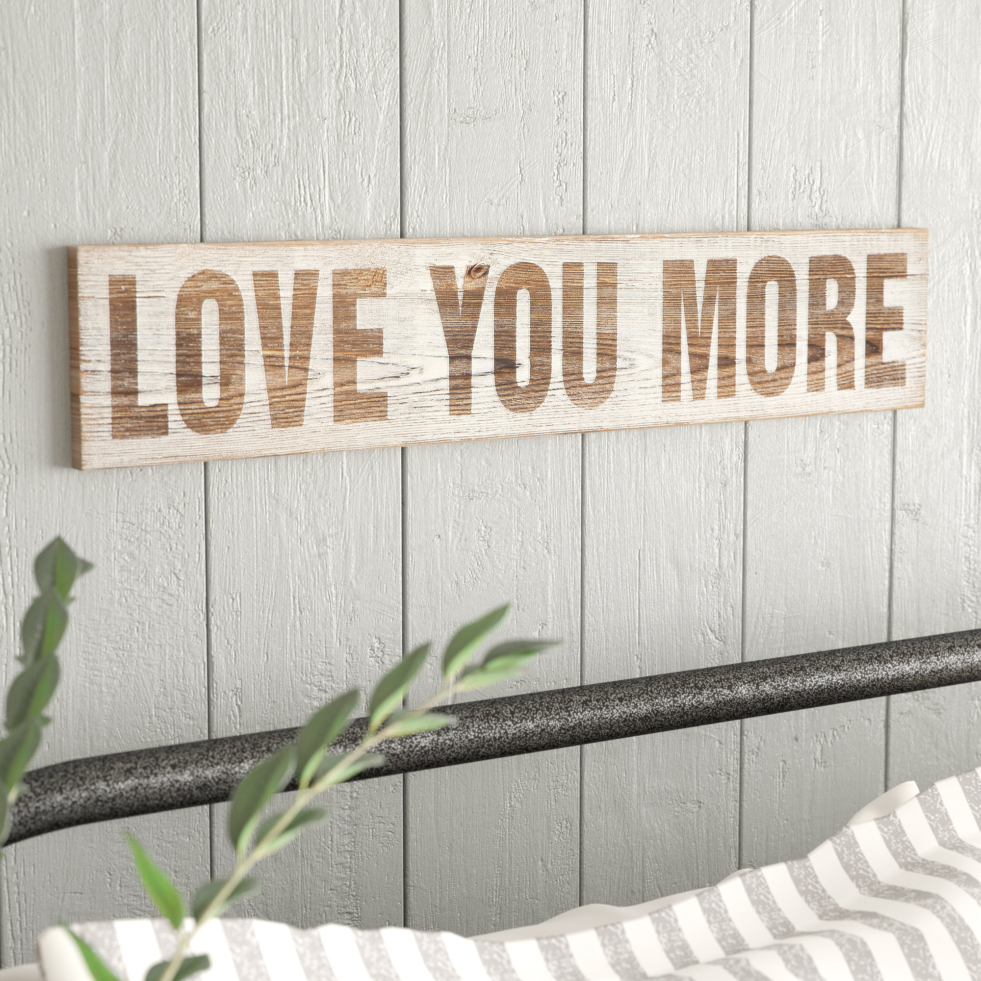 Featured Photo of 'Love You More' Wood Wall Decor