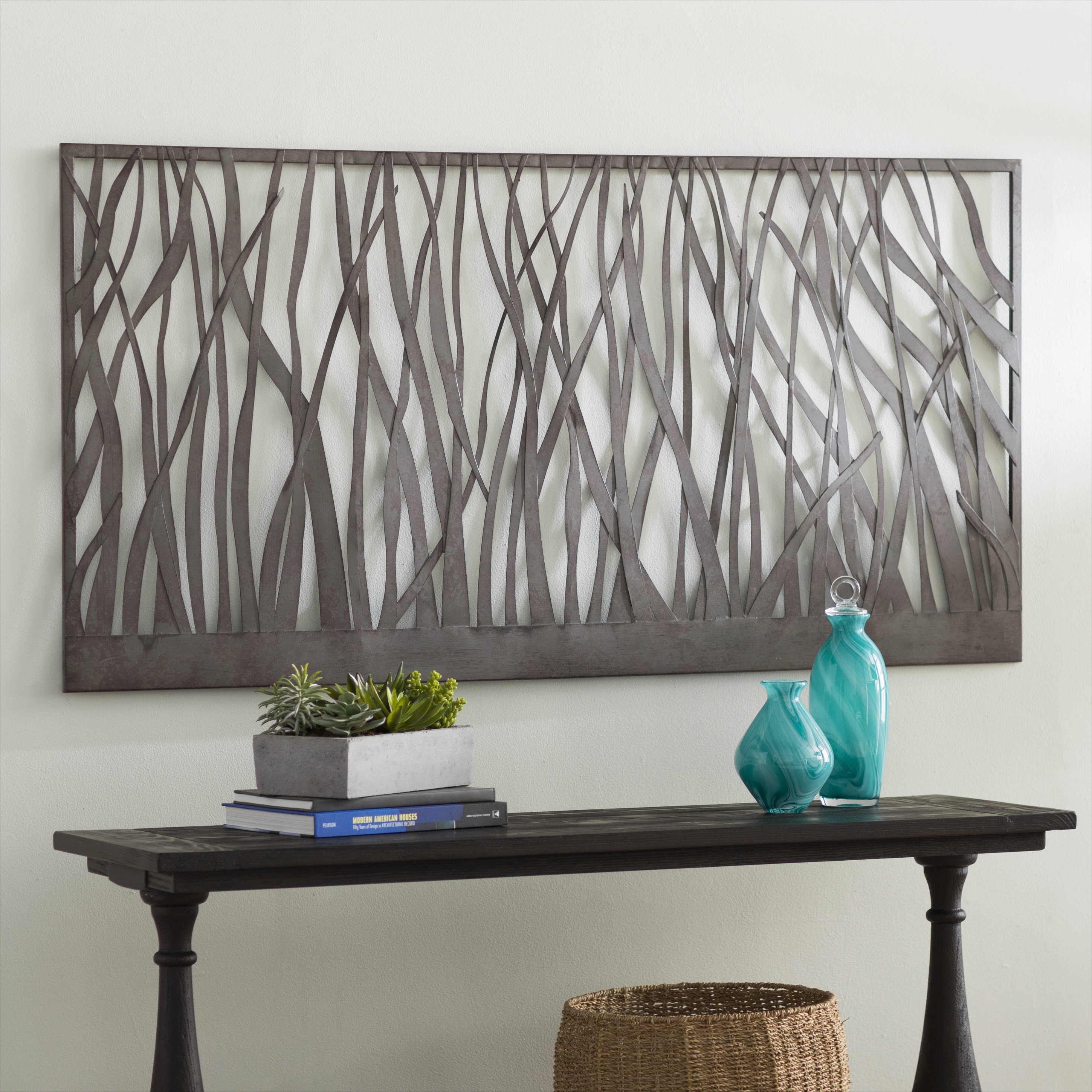 Featured Photo of Olive/gray Metal Wall Decor
