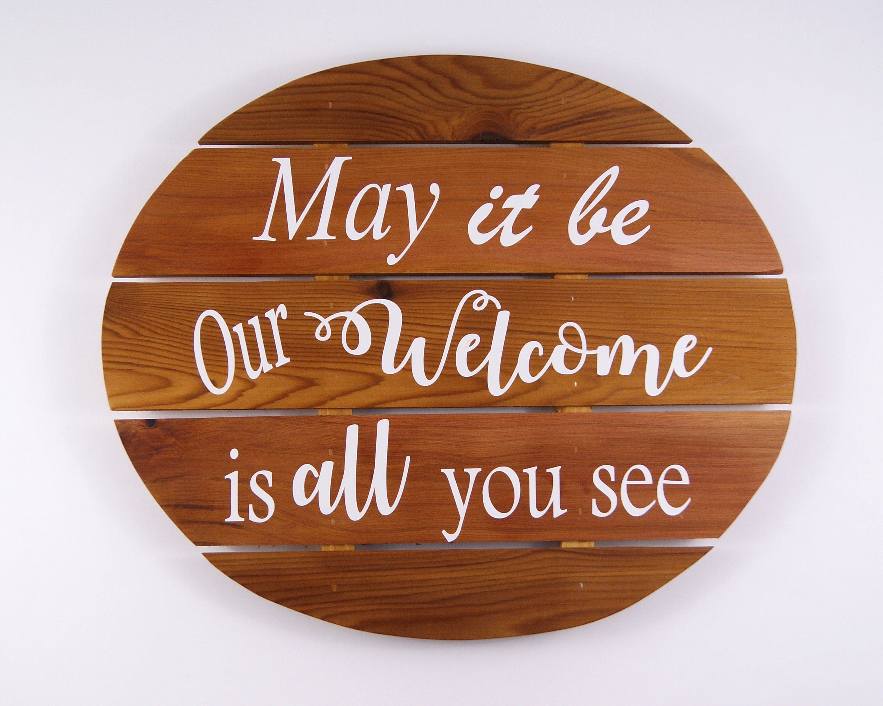 Welcome Sign, Cedar Wood Wall Hanging, Interior Wall Art, Farmhouse Within Most Popular Tree Welcome Sign Wall Decor (Gallery 12 of 20)