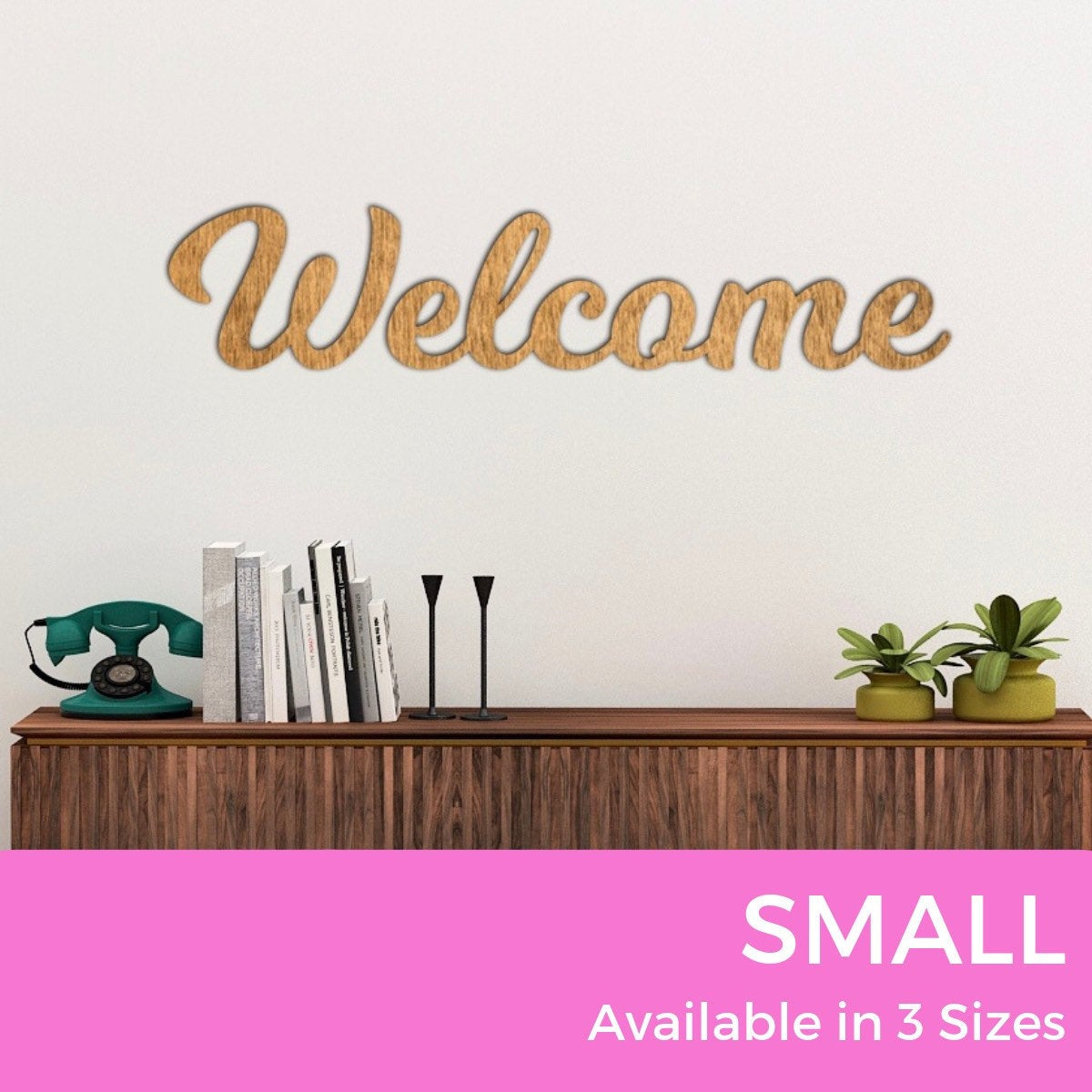 Welcome Sign Small Wood Sign Word Sign Modern Farmhouse (View 5 of 20)