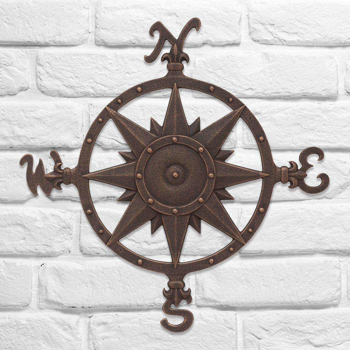 Well Known Beach Wall Art: Oil Rub Bronze Compass Rose Wall Décor With Regard To Oil Rubbed Metal Wall Decor (View 20 of 20)