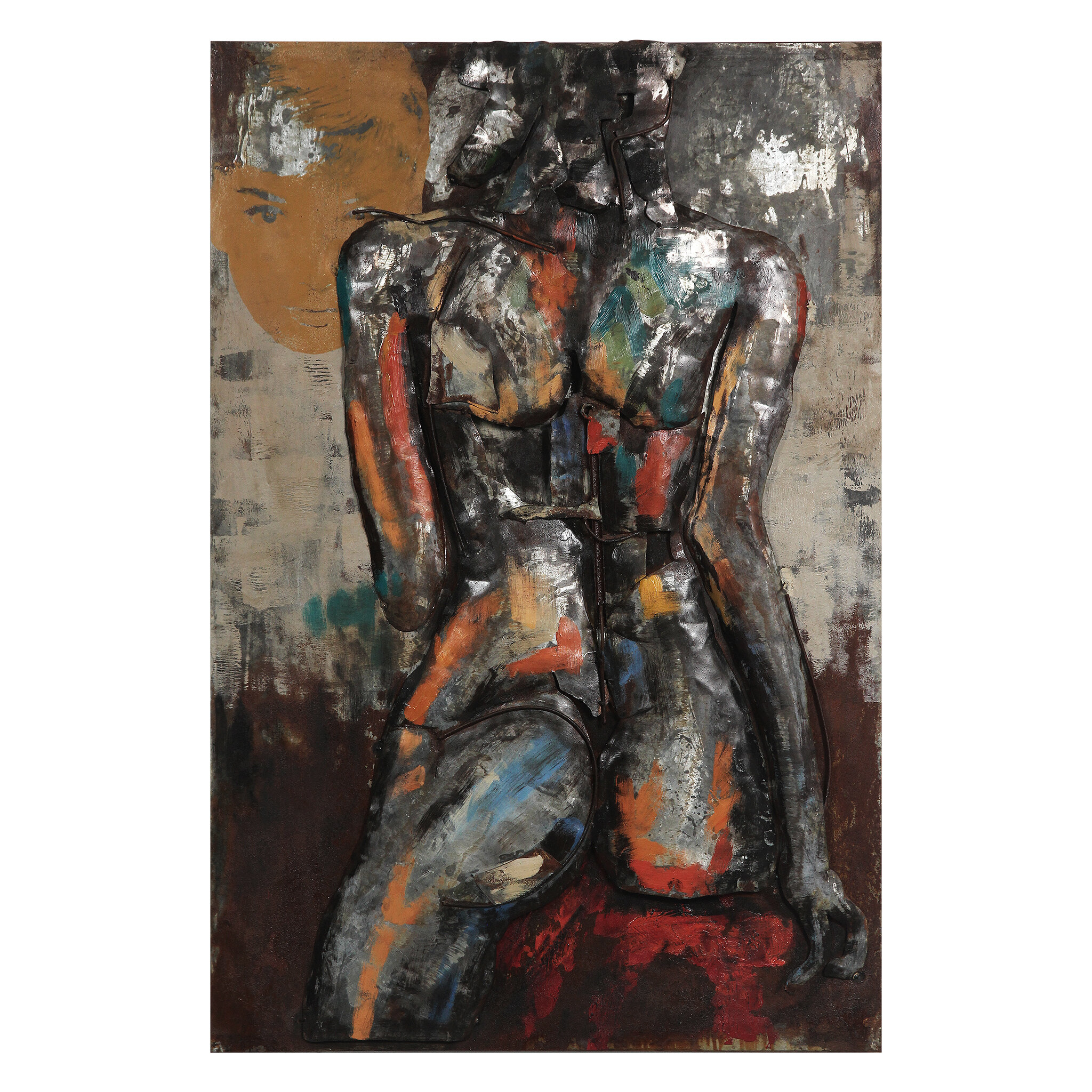 """Well Known Empire Art Direct """"nude Study 1"""" Mixed Media Iron Hand Painted With Regard To """"bridge To The City"""" Mixed Media Iron Hand Painted Dimensional Wall Decor (View 19 of 20)"""
