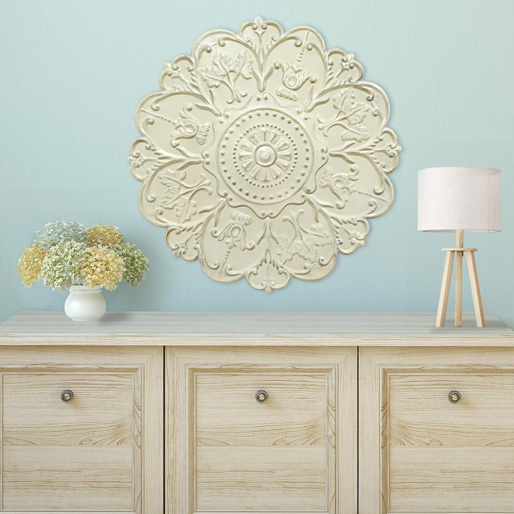 Well Known European Medallion Wall Decor For Stratton Home Decor Shabby White Medallion Wall Decor S03354 – The (View 5 of 20)