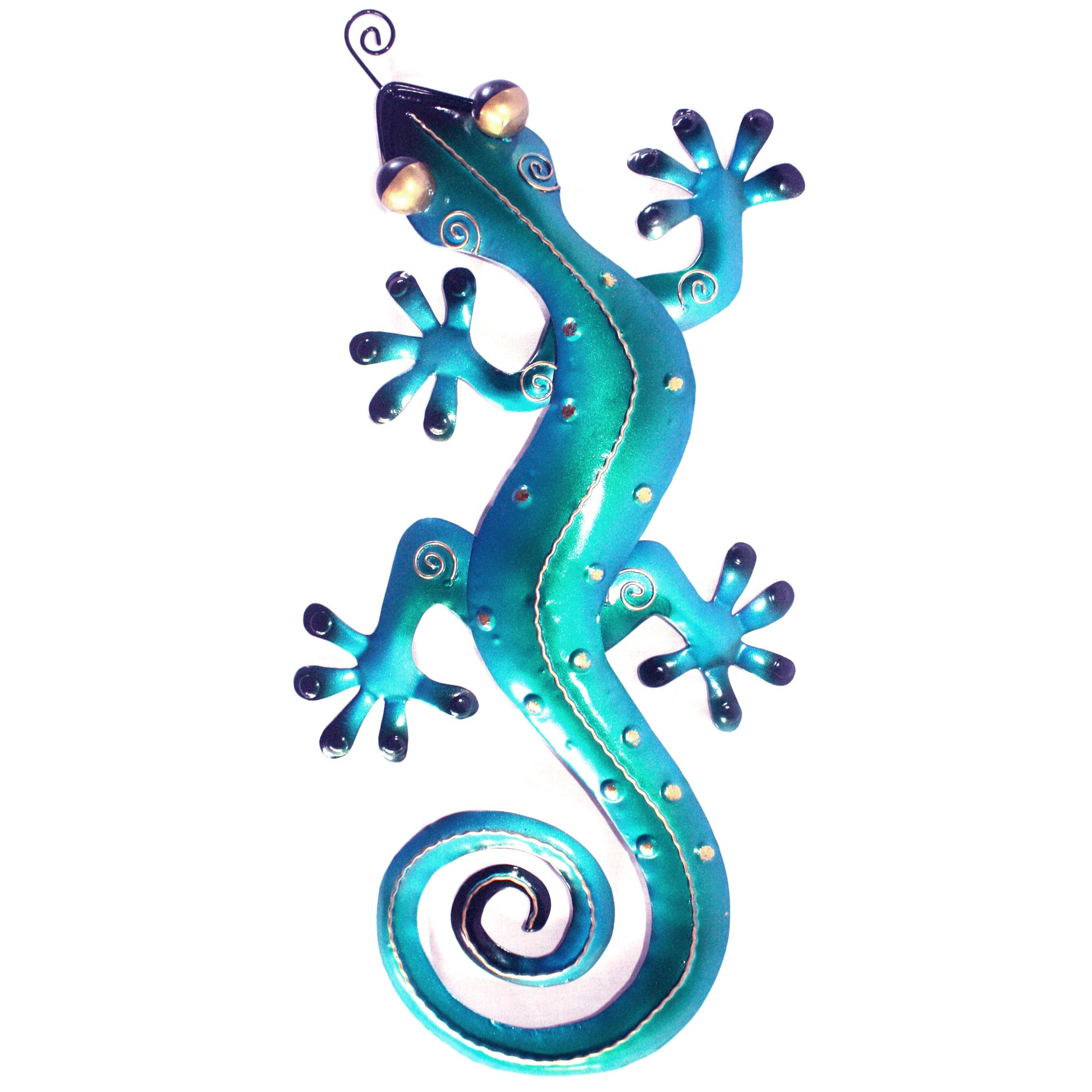 Well Known Gecko Wall Decor For D Art Handmade Small Iron Blue Gecko Wall Decor (Indonesia (View 20 of 20)