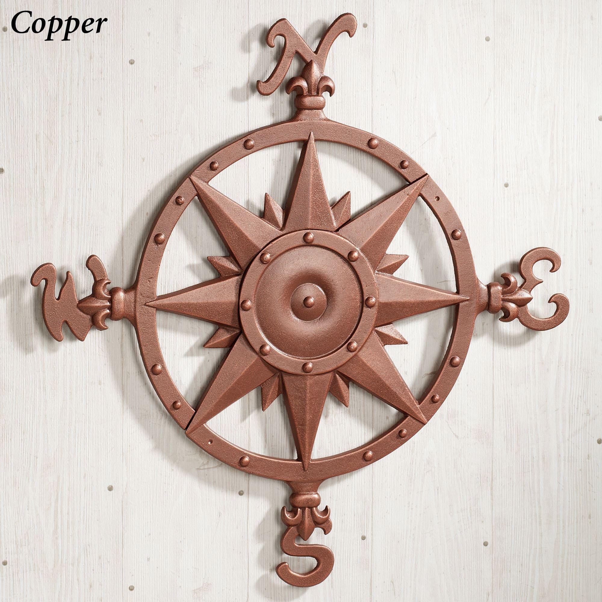Well Known Indoor Outdoor Nautical Compass Metal Wall Art In Outdoor Metal Wall Compass (View 20 of 20)