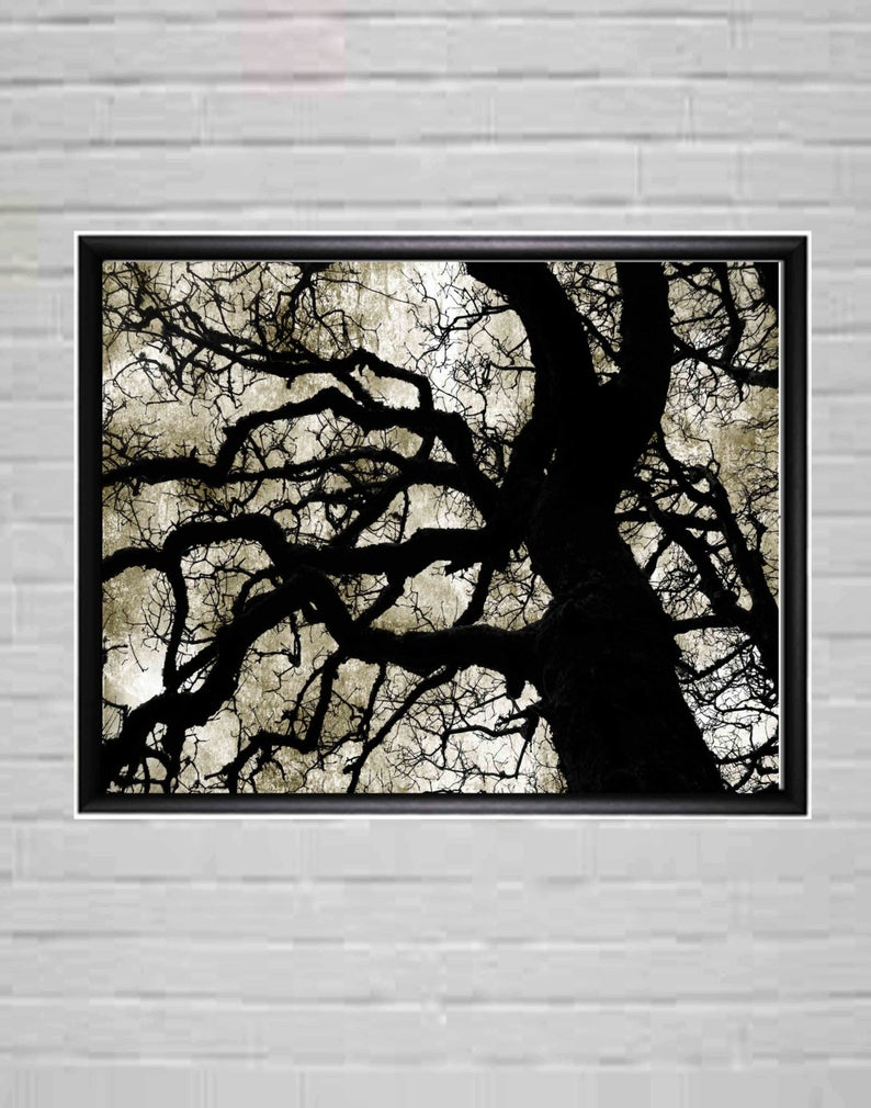 Well Known Large Black And White Modern Wall Art Tree Wall Decor (View 18 of 20)