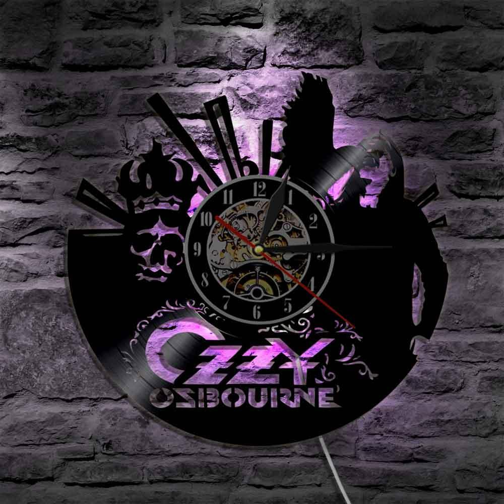 Well Known Modern Art 2019 Ozzy Osbourne Singer Silhouette Led Light Backlight Pertaining To Osbourne Wall Decor (View 12 of 20)