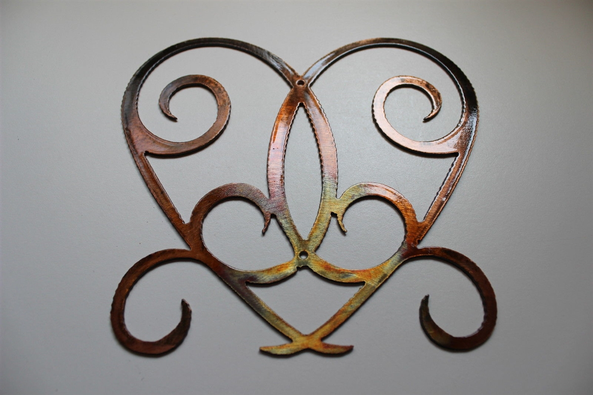 Well Known Ornamental Wood And Metal Scroll Wall Decor Pertaining To Ornamental Heart Scroll Metal Wall Decor (Gallery 20 of 20)