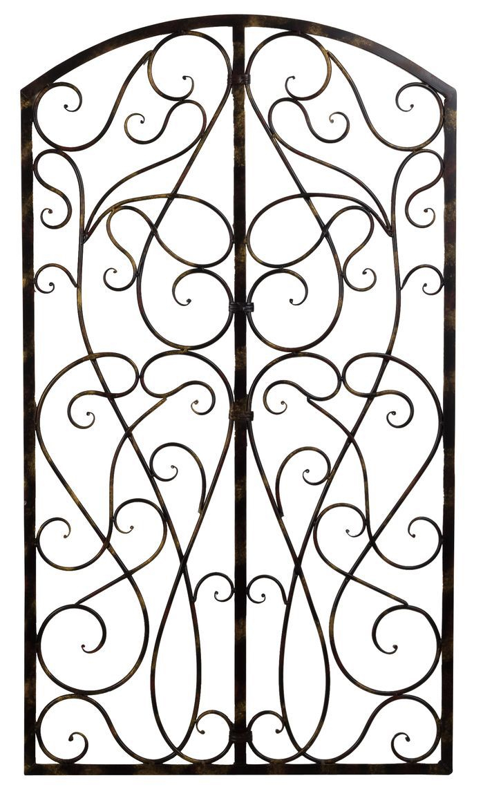 Well Known Scroll Panel Wall Decor With Wrought Iron Scroll Panel Wall Décor (View 5 of 20)